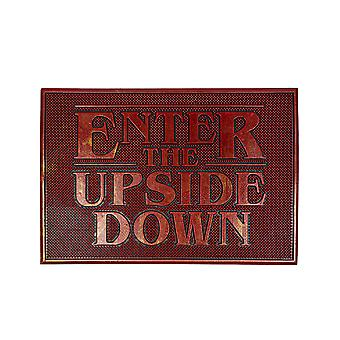Stranger Things Doormat Enter The Upside Down Rubber Welcome Home Mat Gift
