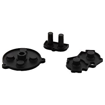 Custom conductive silicone rubber pad button contacts kit a b d-pad start select for nintendo game boy advance (gba) - black