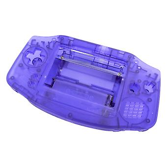 Modified housing front & back shell for ips lcd screen nintendo game boy advance replacement - transparent purple | zedlabz