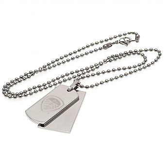 Leeds United FC Double Dog Tag And Chain