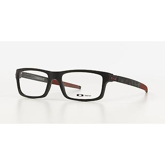 Oakley Currency OX8026 12 SATIN Black CARDINAL RED Glasses