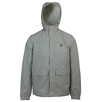Lyle & scott men's grey fog hooded pocket jacket