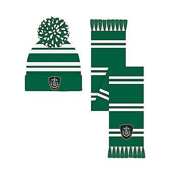 Harry Potter Slytherin Crest Bobble Hat e Cachecol