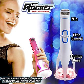 The Rocket Wireless Singing Machine (Pink or White - 1 at Random)