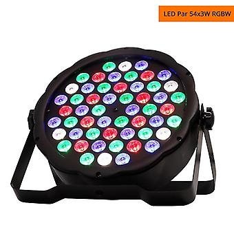 Led Par Light Rgbw 54x3w Disco Wash Light Equipment, 8 Canaux Dmx 512 Led