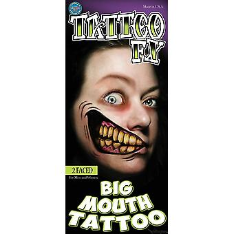 Tinsley Transfers Big Mouth Tattoos (2 Faced)