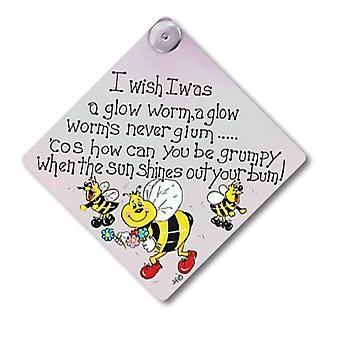 Etwas anderes ich wünschte, ich war ein Glow Worm Fenster Zeichen