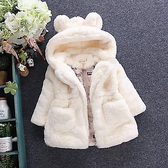 Talvi lämmin villapaita, turkis pehmustettu takki, isot korvat paksunnettu tikattu puuvilla