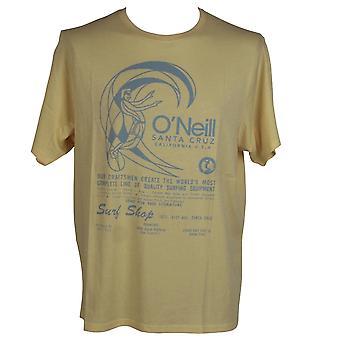 O'Neill Men's Originals Camiseta de Algodón Orgánico - Impresión de neblina de oro