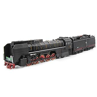 Steam Train Locomotive Alloy Toy- Cars Pull Back Sound Light