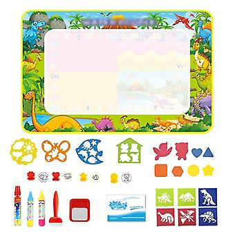 Big Size Magic Water Drawing Mat, Coloring Doodle Carpet With Pens & Stamps