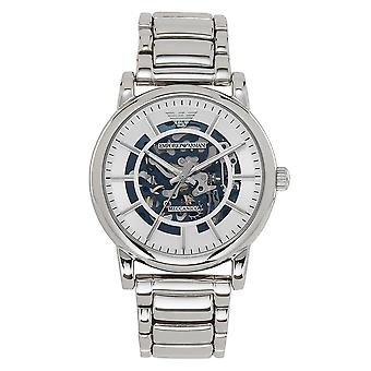 Armani Ar60006 Meccanico Silver Stainless Steel Automatic Men's Watch