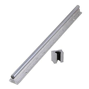 2PCS Silver 12mm Shaft 40cm Linear Motion Bearing Rail & Open Bearing