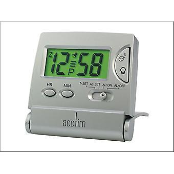 Acctim Mini LCD Flip Alarm Silver 13357