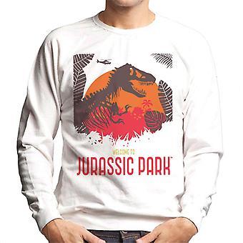 Jurassic Park Willkommen im Jurassic Park T Rex Silhouette Männer's Sweatshirt