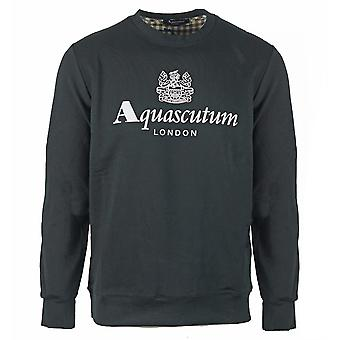 Aquascutum Waterfield Logo Black Sweatshirt