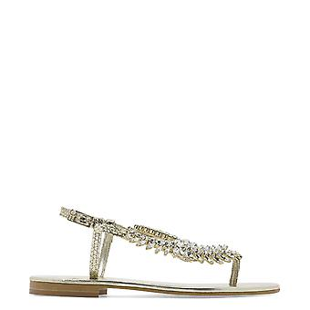 Emanuela Caruso J08acrystal Women's Gold Leather Sandals