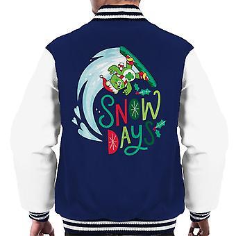 Care Bears ontgrendelen de magische kerstsneeuwdagen men's Varsity Jacket