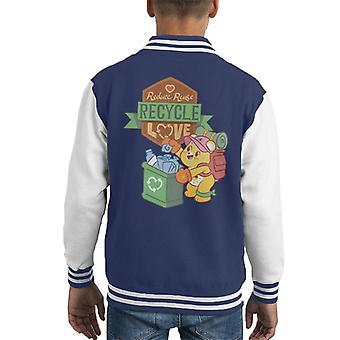 Care Bears Odblokować Magic Reduce Reuse Recycle Love Kid's Varsity Jacket