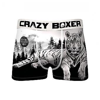 Black and White Tiger Men's Underwear Boxer Briefs