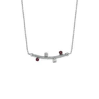 Naszyjnik z diamentem z pereł