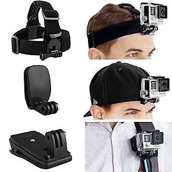 Camkix head and backpack mount bundle compatible with gopro hero 8 black, hero 7, 6, 5, black, sessi