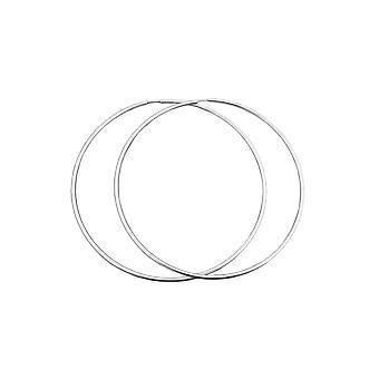 Hoop Earrings 100mm Silver 925