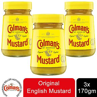Colman's de Norwich Original English Mustard, 3 Pots de 170g