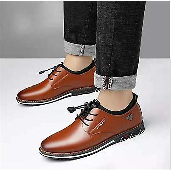Luxury Pointed Toe Casual Leather Shoes Men's Fashion