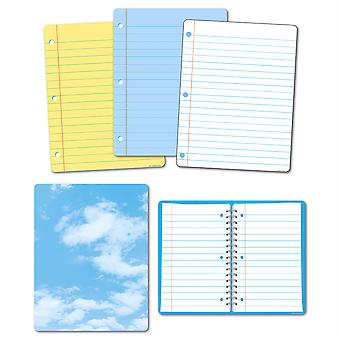 "Smart Poly Multi-Use Big Notebook Paper Classroom Charts, 17"" X 22"", Set Of 5"