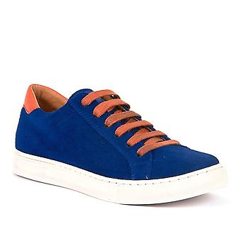 FRODDO Laced Leather Shoe Royal Blue