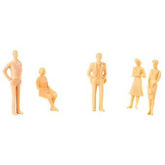 5pcs 1:50 Scale Unpainted Figures People X001118 for Train/ Model /Architectural