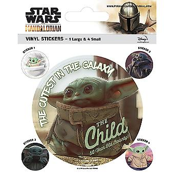 Star Wars: The Mandalorian Vinyl The Child Stickers (Pack of 5)