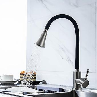 Silica Gel Nose Any Direction Rotating Faucet - Cold And Hot Water Mixer Single