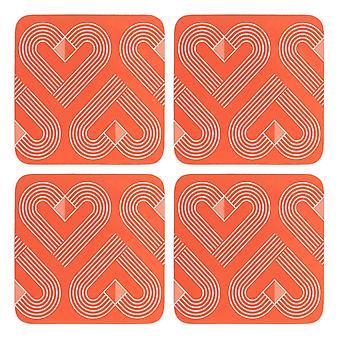 Beau & Elliot Vibe Coasters, Coral