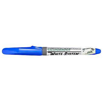 Dry Erase Markers, Fine Tip, Blue, Pack Of 12