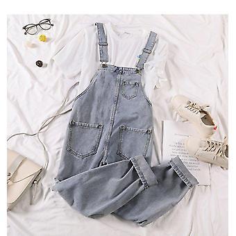 סרבל ג'ינס, נשים מזדמנות משוחררות מכנסי קאפרי, אורך קרסול, כותנה