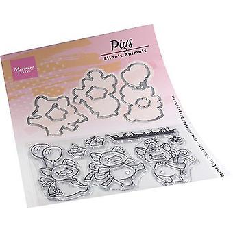 Marianne Design Clear Stamps Eline's Animals - Świnie Ec0187 150x210mm