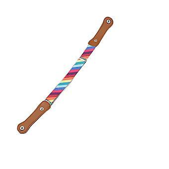 Child Kids Buckle Free Adjustable Elastic Waist Belt Striped Waistband