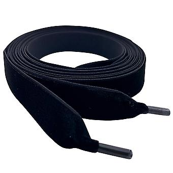 Black Velvet Ribbon Shoelaces