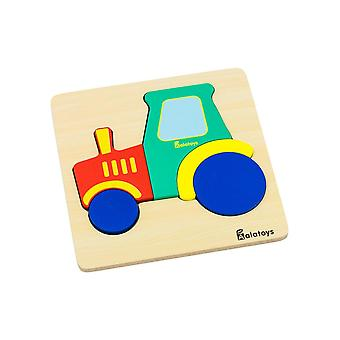 "Alatoys Wooden  Puzzle ""Tractor"""