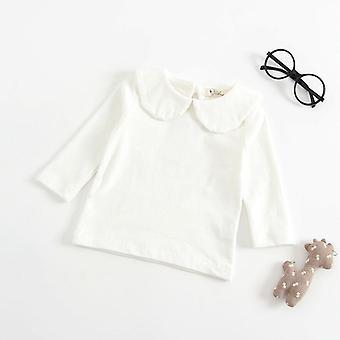 Newborn Baby T-shirt, Long Sleeved Cotton Blouse Tops