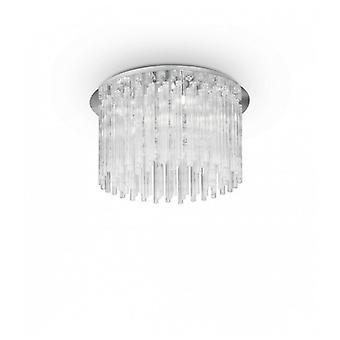Elegante Lámpara De Techo Cromada 8 Bombillas