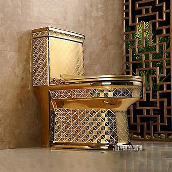 Keramische eendelige toilet creatieve badkamer stoel Super Cyclone Type Luxury Flush