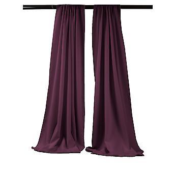 La Leinen Pack-2 Polyester Poplin Hintergrund Drape 96-Zoll breit von 58-Zoll hoch, Aubergine