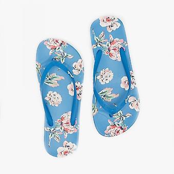 Joules Flip Flop Ladies Sandalias de Playa Azul Floral