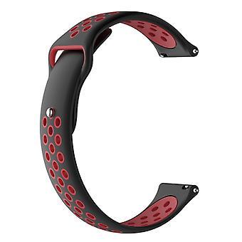 Pre Dvojfarbový náhradný náramok Garmin Fenix Chronos Watchband (čierna červená)