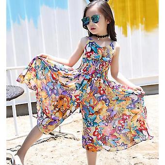 Enfants Été Floral Bohemia Beach Jumpsuit, Baby Clothing Kids Overalls