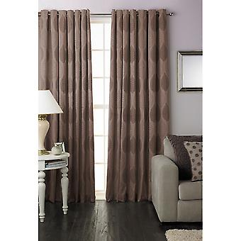 Riva Home Dalby Leaf Pattern Ringtop Curtains