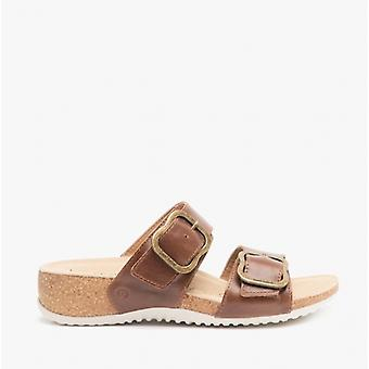 Josef Seibel Natalya 15 Ladies Leather Mule Sandals Camel